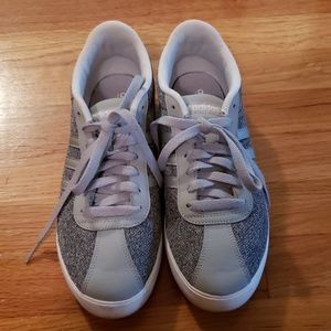Gray and White Adidas Sneakers - Size 9